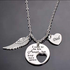Angel Wing memorial necklace - Dad